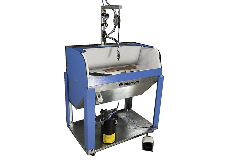 I288 - Vacuum bench B2410 spraying system S8 and tank CO assembled and installed