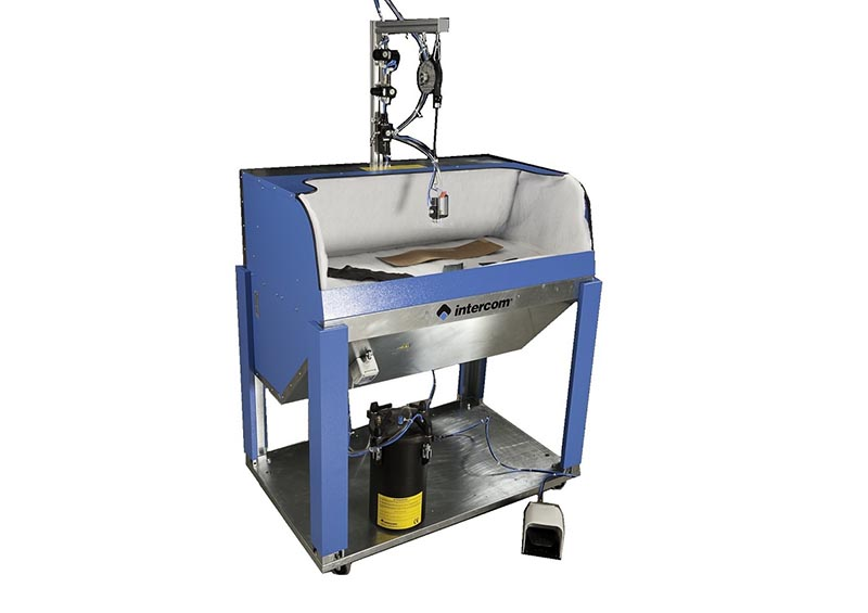 I298 - Vacuum bench B2410 spraying system S9 and tank CO assembled and installed